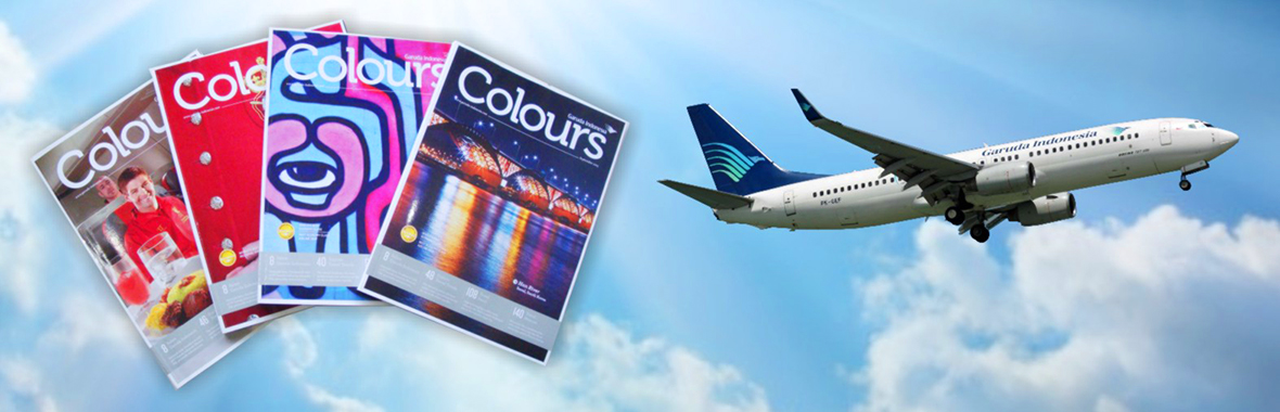 Inflight Magazine of Garuda – COLOURS